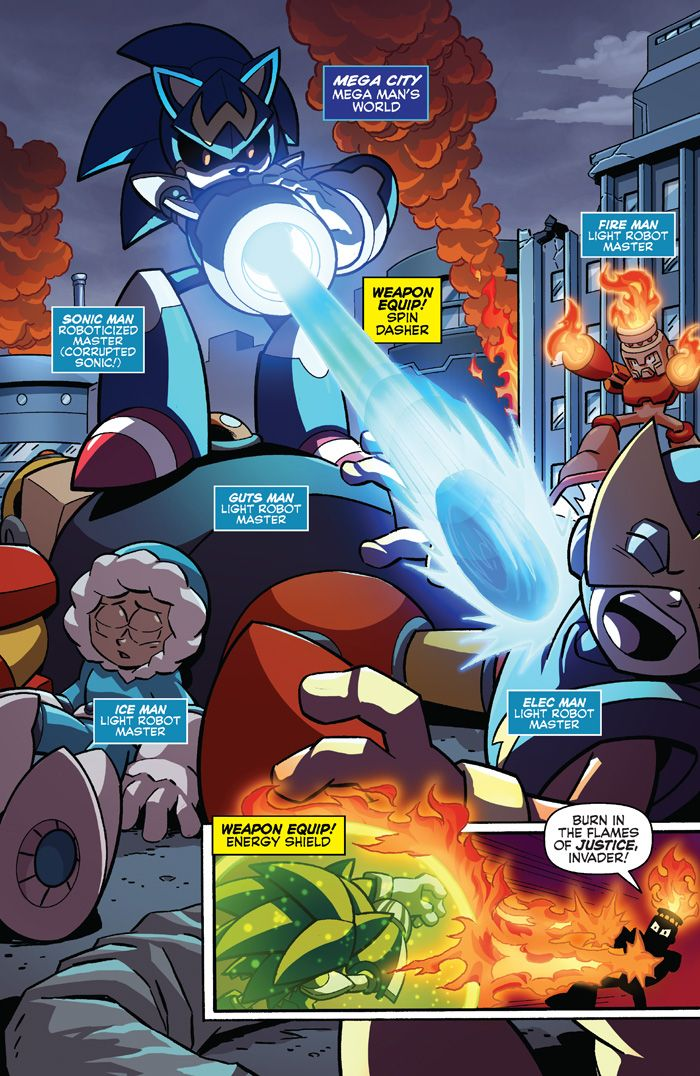 True Blue: Mega Man and Sonic Go Bad in Worlds Unite, Part 2