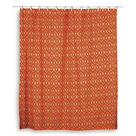 Rizzy Home Shower Curtain In Orange And Ivory Products