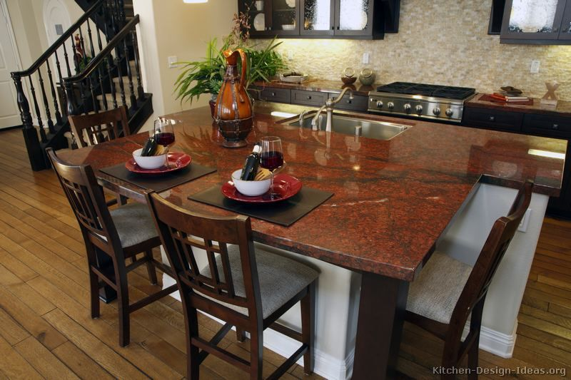 countertop luxury red granite kitchen island countertop - Kitchen Island Countertop