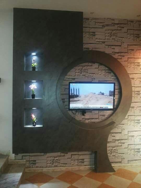 tv wand ideen tools rigips wohnzimmer und trockenbau. Black Bedroom Furniture Sets. Home Design Ideas