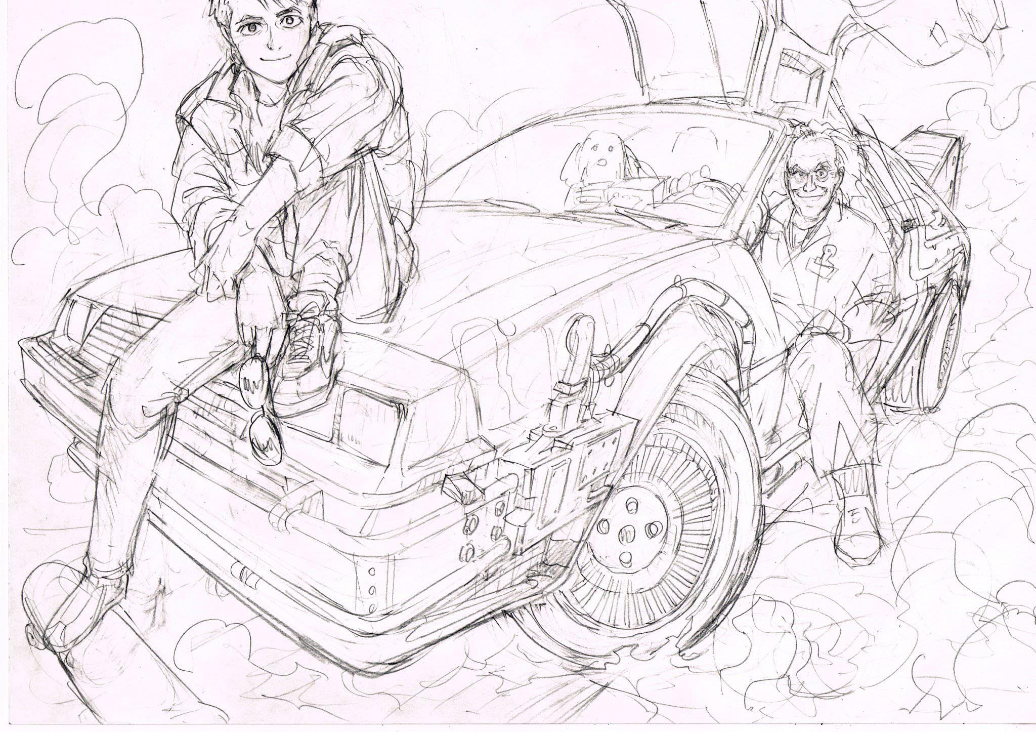 New Back To The Future Sketch By Yusuke Murata Desenho Anime Manga