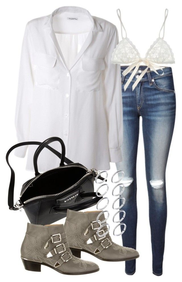 """Untitled #17902"" by florencia95 ❤ liked on Polyvore featuring rag & bone, Equipment, Givenchy, Chloé, Hanky Panky and ASOS"