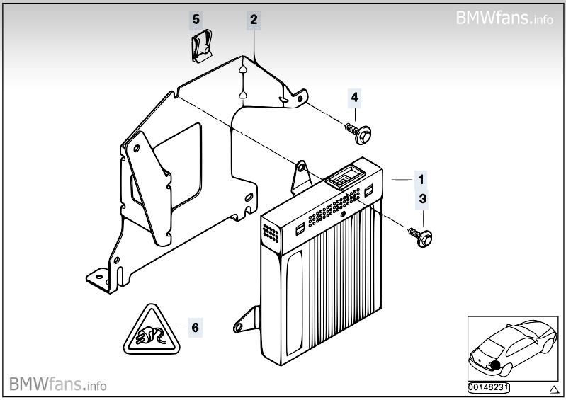 Amplifier/holder Harman Kardon Hi-Fi BMW 3' E46, 323Ci