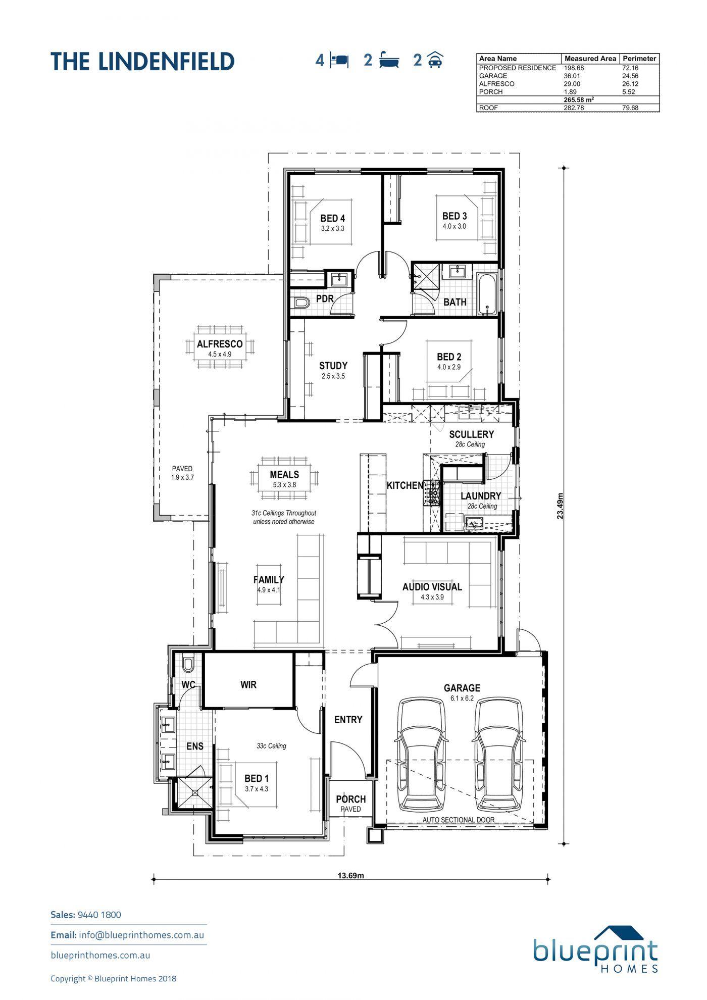 The Lindenfield Perth Display Home Byford Blueprint Homes Display Homes Floor Plan Design Blueprints