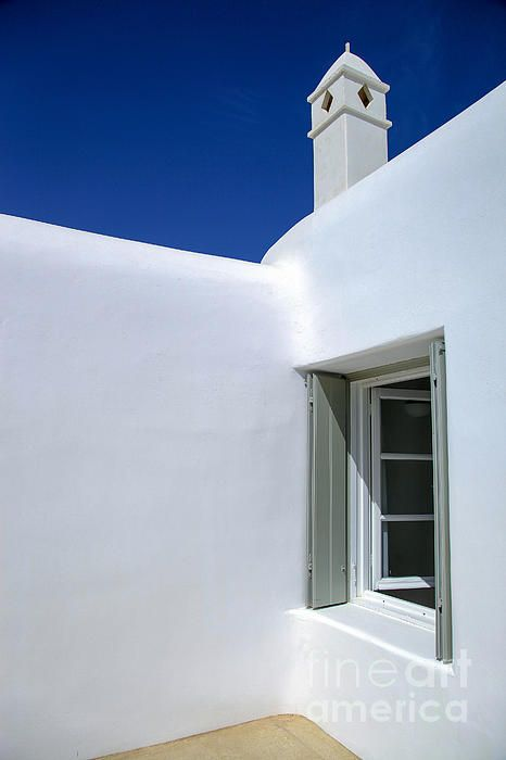 Greek Architecture of Mykonos Island Greece.