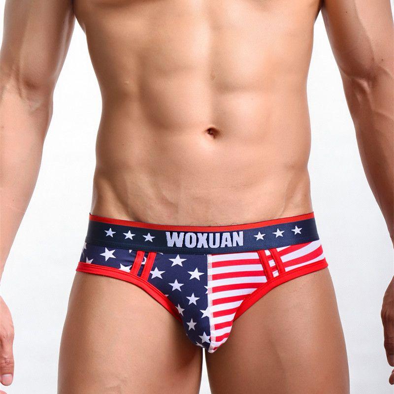 American Flag Womens Cotton Bikini Underwear Underpants Briefs Low-Waist White Underpants
