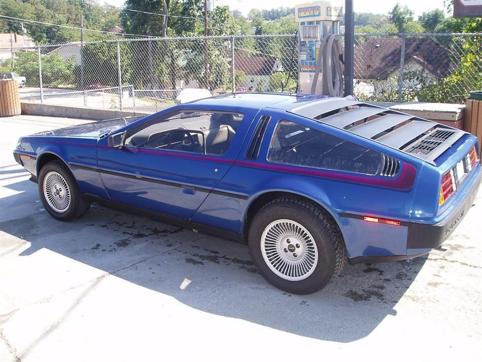 back to the future in style electric blue delorean nomad pinterest cars car man cave. Black Bedroom Furniture Sets. Home Design Ideas