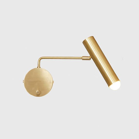Contemporary Lindi Fluted Wall Sconce Modern Brass Reading Etsy In 2020 Contemporary Wall Lamp Wall Lights Wall Lamp