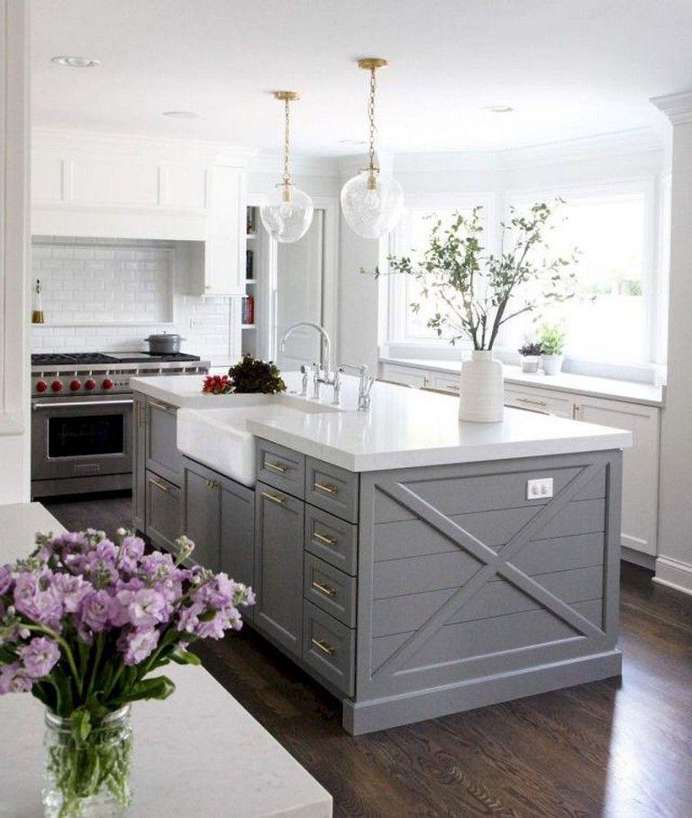 40 Awesome Gray Kitchen Cabinet Ideas Kitchen Decor Pinterest