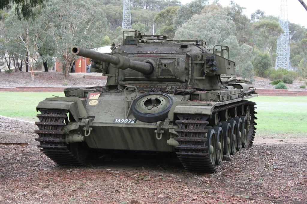 b7ec296aef61 Centurion MK 5 1 near a parade ground in Puckapunyal Army Base
