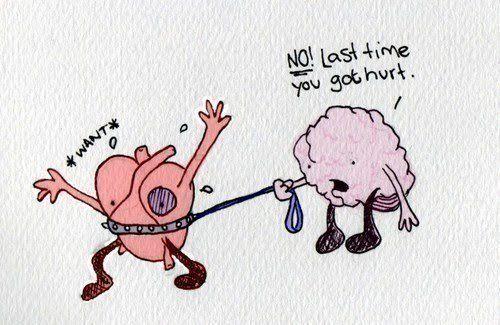 Funny Meme For Broken Heart : Meme keep my heart to myself broken heart heart brain head vs