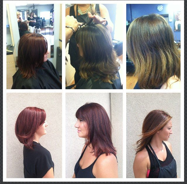 Before and After's from our Davines Color Space class w/Brad