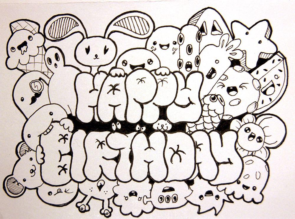 happy birthday in 2019 doodle doodles doodle