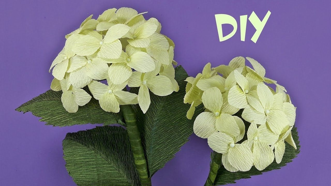 How To Make Hydrangea Flowers From Crepe Paper Crepe Paper Flower
