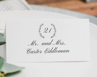 Escort Cards  Vibiana     Printable Wedding Place