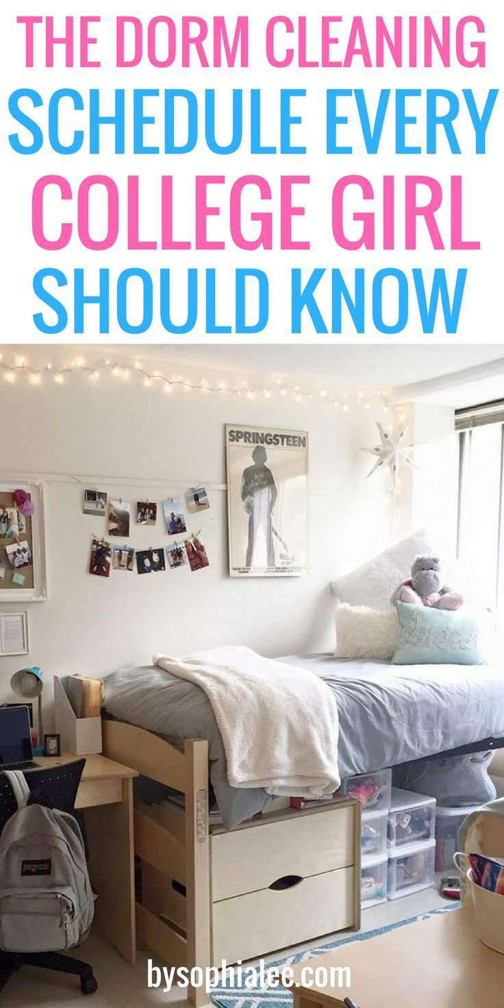 What Needs To Be Cleaned In a Dorm Room