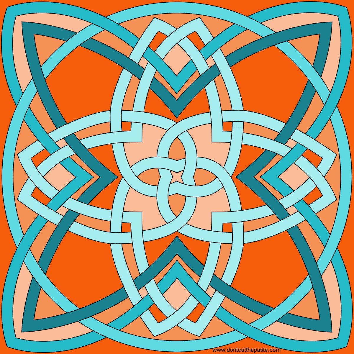4 strand, 4 sided knot | perechi | Pinterest | Mandalas, Celta y ...