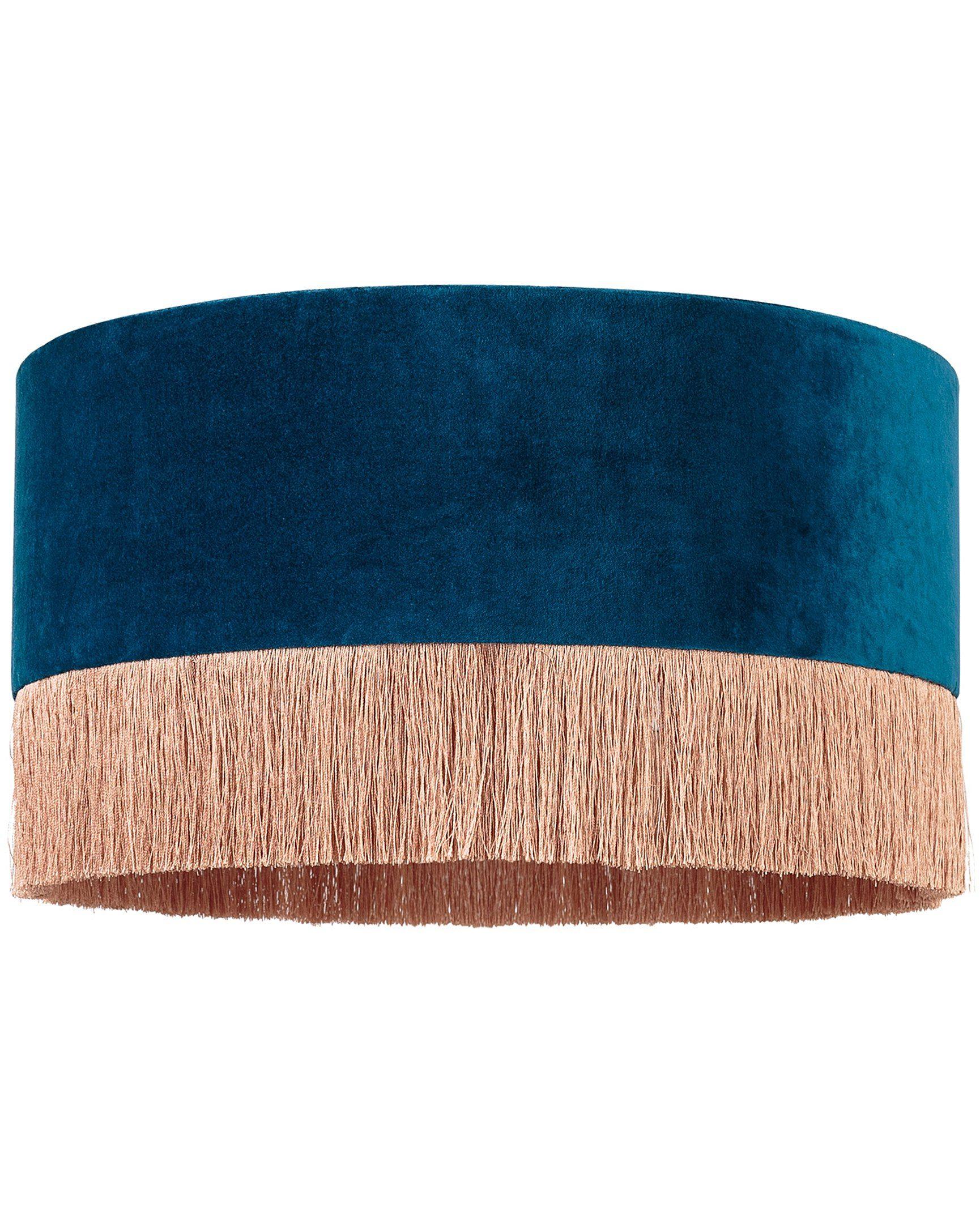 Ero Blue Velvet Shade Table & Desk Lamp
