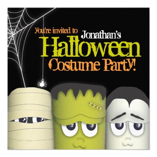 Spooky monster friends halloween costume party card friend spooky monster friends halloween costume party card stopboris Choice Image