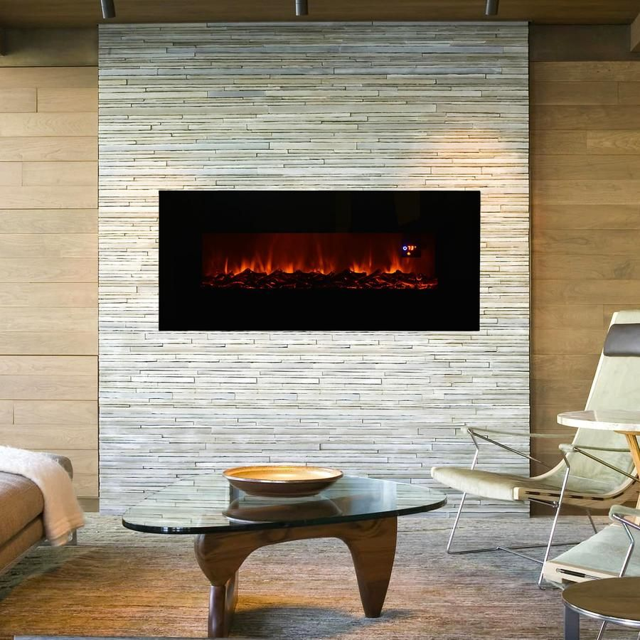 Miraculous 50In Electric Wall Mounted Fireplace Heater Black In 2019 Home Interior And Landscaping Oversignezvosmurscom