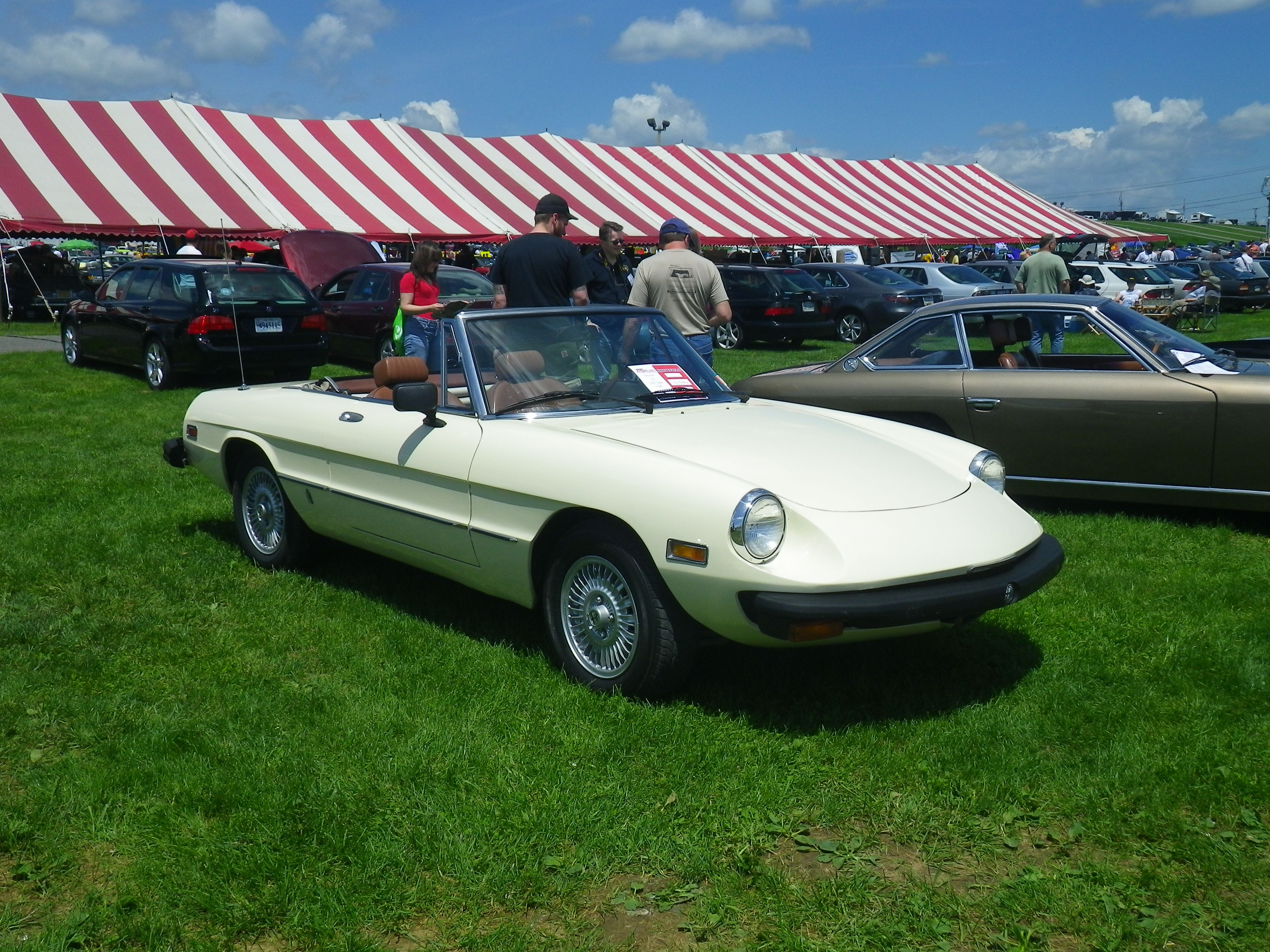 My Alfa Spider at Carlisle Import Show