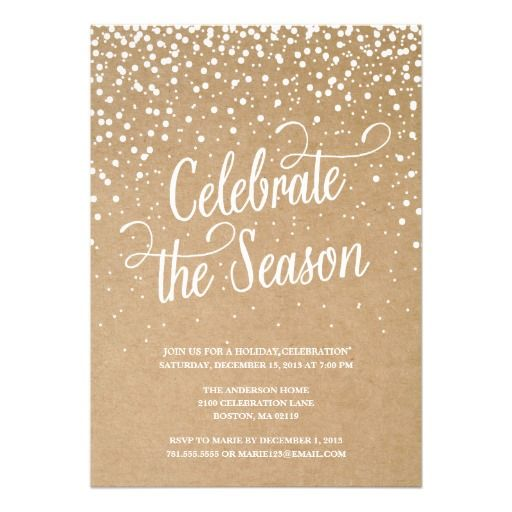 First snow holiday party invitation Let\u0027s Party Pinterest