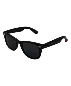 Love this Betsey Johnson Black Rhinestone Wayfarer Sunglasses by Betsey Johnson on #zulily! #zulilyfinds