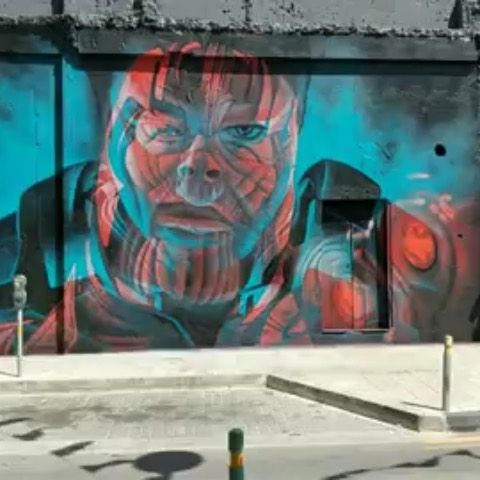 "ComicBook.com on Instagram: ""We seriously want to visit this 3D mural 3000 times — wow! 🔴🔵 (Art by: @insane51)"""