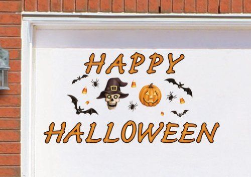 Happy Halloween Garage Door Magnets By Collections Etc By Collections 14 99 Colorful Magnet Set Af Halloween Garage Door Halloween Garage Halloween Displays
