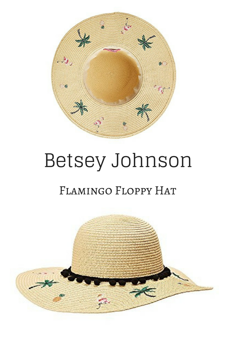 Perfect summer hat! Betsey Johnson Flamingo Floppy Hat  ad  flamingos   summer  summerrhat  hat 580ec0001a38