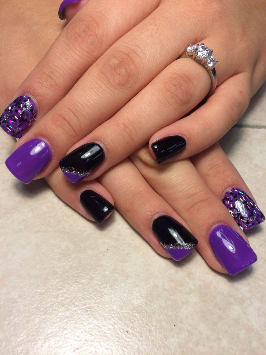 Baby blue and sparkles   Nails, Acrylic nails, Gel polish