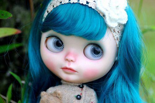 blythe doll blue hair - Google Search