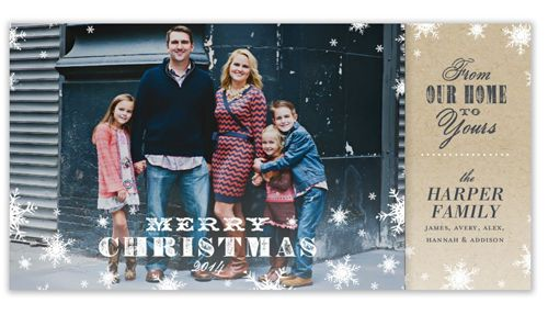 From our home to your home Shutterfly Photo card New Home Holiday