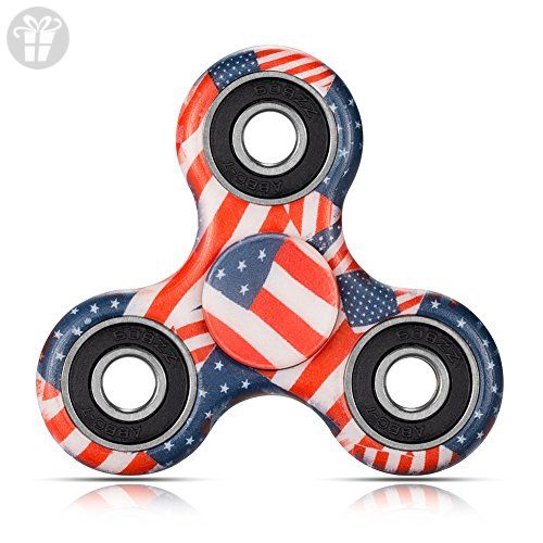 MorisMos Tri-Spinner Fidget Toy Hand Spinner, Stress Reducer Relieve AnxietyPerfect For ADD, ADHD, Anxiety, and Autism Adult Children- Flag color - Fidget spinner (*Amazon Partner-Link)