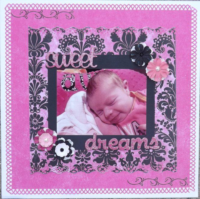 Layout: Sweet Dreams ~ Scrapbooking Inspiration ~ ♥ #scrapbooking #crafts #diy