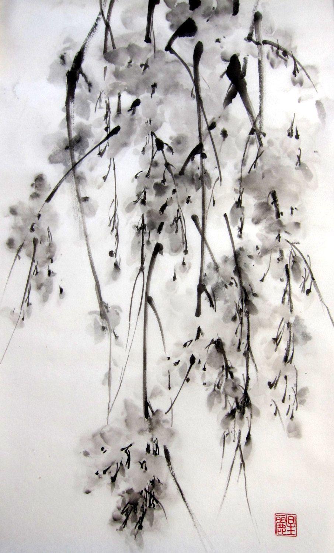 Китайская живопись картинки черно белые, открытки своими руками