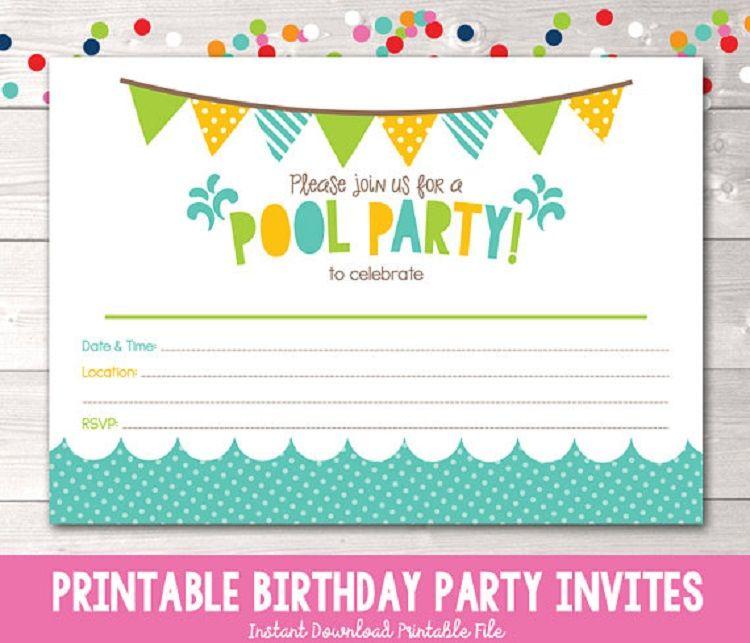 Fantastic Green Birthday Invitation Card Blank Funny Birthday Cards Online Fluifree Goldxyz
