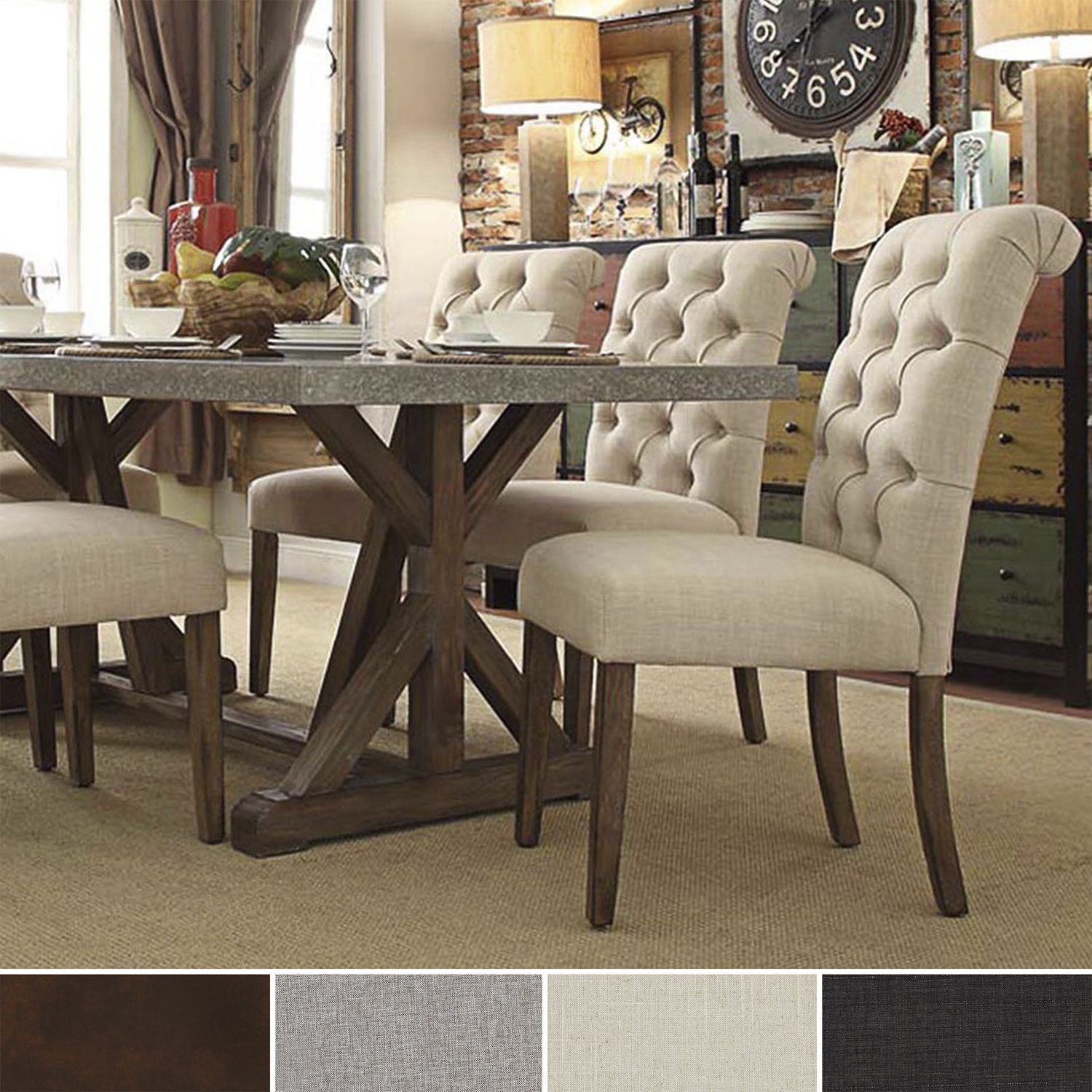 cloth dining room chairs beach lounge chair canopy immerse yourself in the regal manufacturing of this scrolled back armless deep button tufts add a hint sophistication and lends s superior comfort fully upholstered t