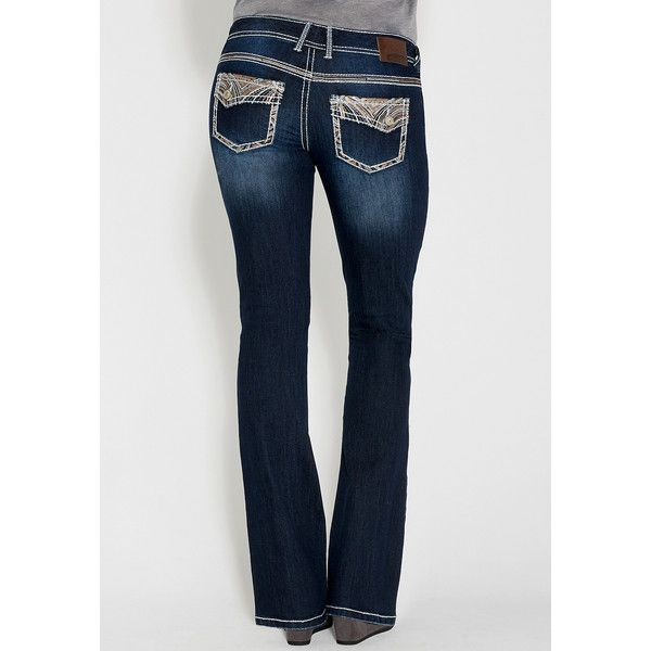 a4c8adffe31 maurices Bootcut Stretch Jeans With Asymmetrical Back Flap Pockets ( 49) ❤  liked on Polyvore