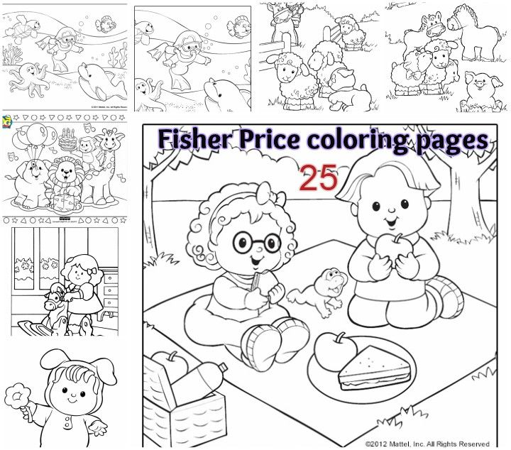 printable fisher price coloring page. Fisher price little