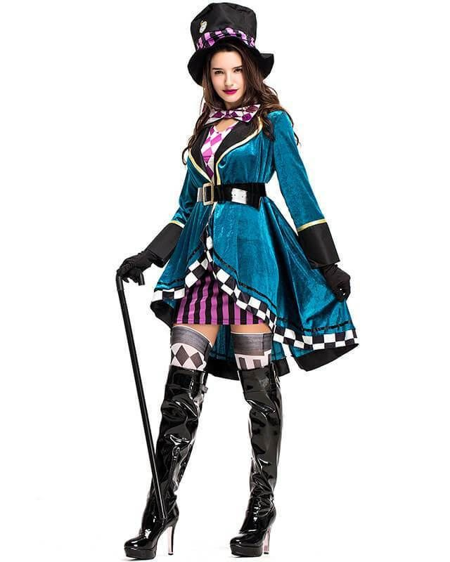 f4ef432025bb Deluxe Mad Hatter Alice In Wonderland Adult Womens Fairytale Costume –  pinkfad