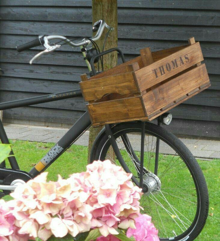 #kist #kistje #krat #vintage #dekistenkoning #wedding #oldlook  #vintage bike #fietskrat #fietskratje