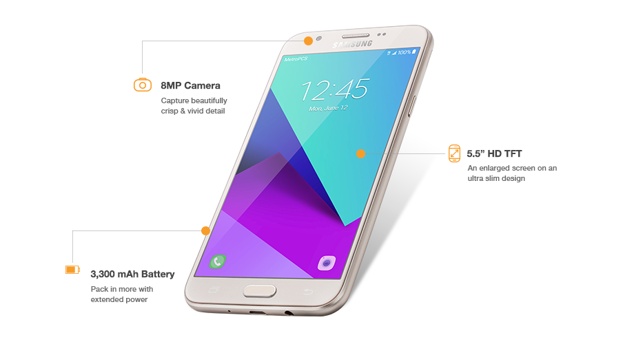 The Samsung J7 Prime has an 8MP front camera with F1 9