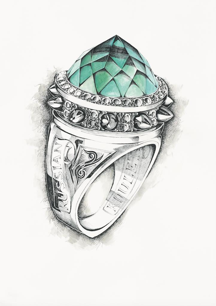 Ring Drawing | Эскизы ювелирных украшений | Jewelry design ...