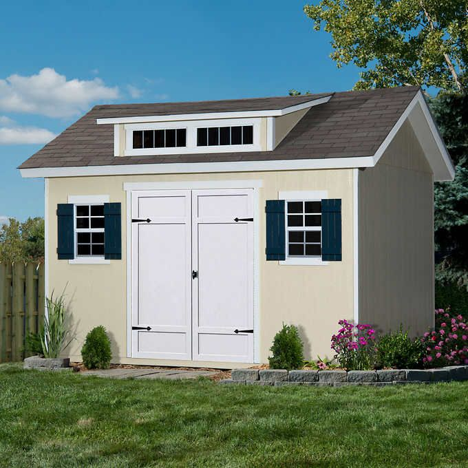 Stonecroft 12\' x 10\' Wood Storage Shed | Dream Yard | Pinterest ...
