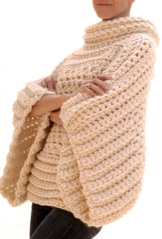 CROCHET PATTERN pdf Instructions to Make: the Crochet Brioche Sweater Crochet Pattern #tejidos