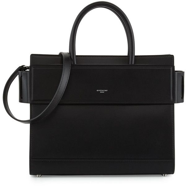 Givenchy Horizon Small Leather Tote Bag (€2.310) ❤ liked on Polyvore featuring bags, handbags, tote bags, black, leather tote, real leather purses, genuine leather tote, leather handbags and real leather tote