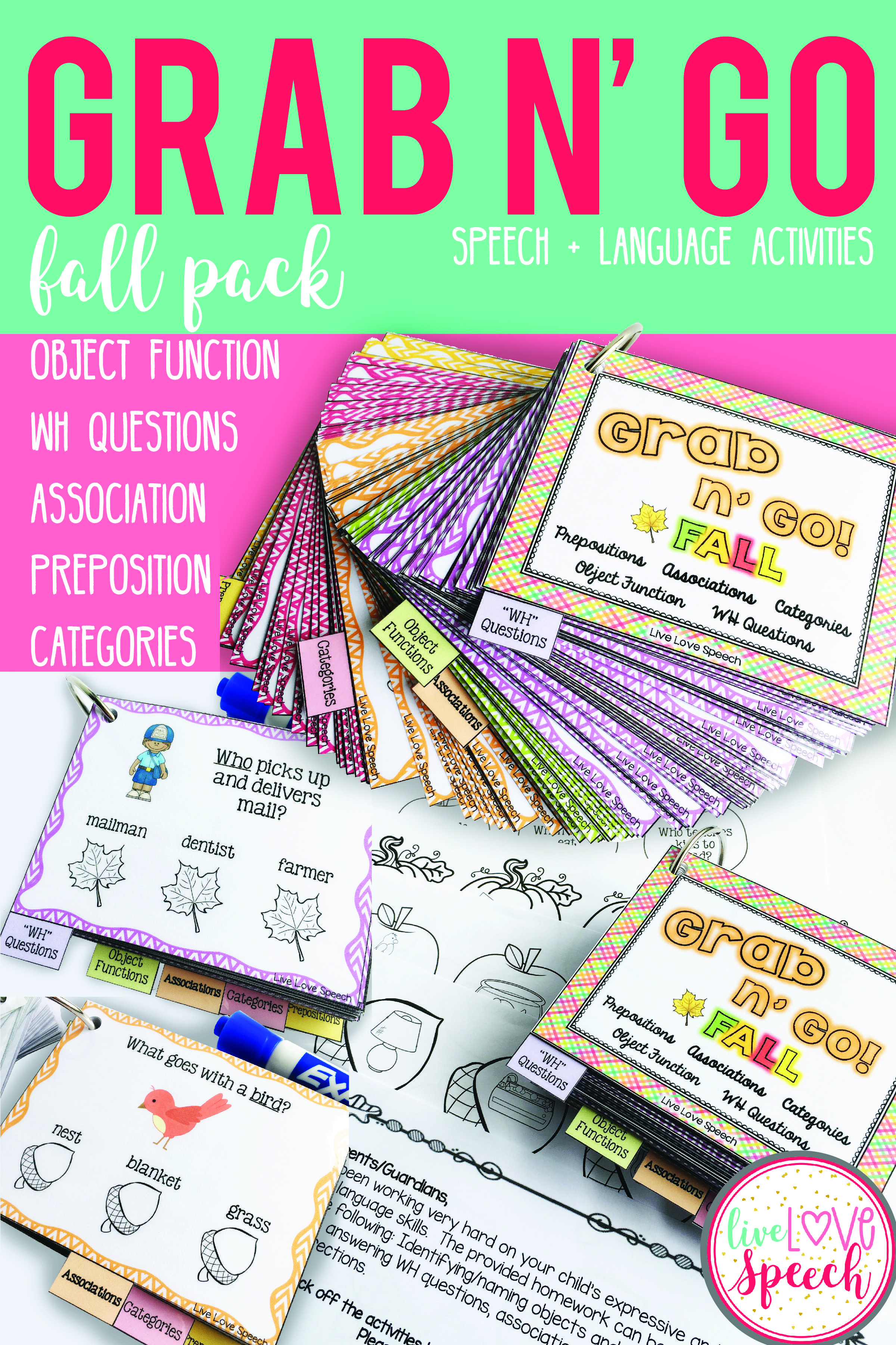 Grab N\' Go Fall Pack for Speech and Language