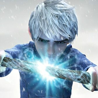 Jack Frost repairing his staff Chuck Norris Style: By staring it into submission! LOL