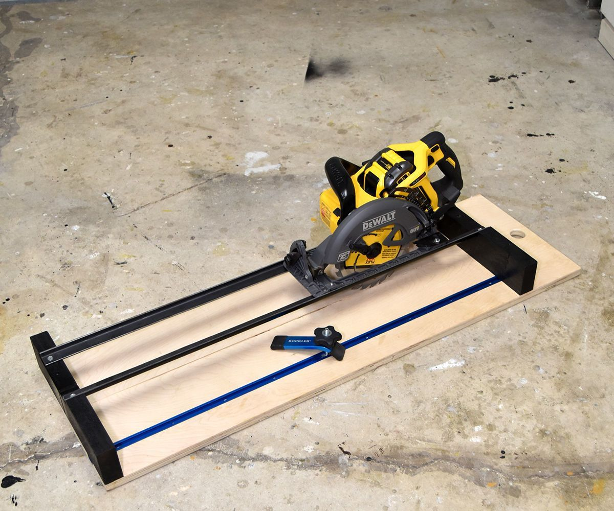 How to Make a Circular Saw Crosscut Jig and Router Guide 2 in 1  #WoodworkingPlansBench